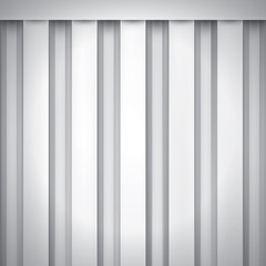 Volume realistic texture, iron fence, gray 3d geometric pattern, design vector background