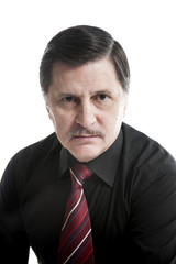 Portrait of a business man against white background