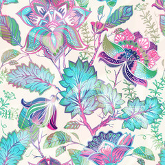Floral seamless pattern, provence style