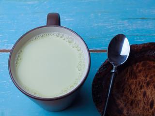 Soy milk , healthy food