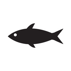 fish sillhouette icon isolated vector