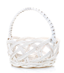 basket isolated on white background Decorated