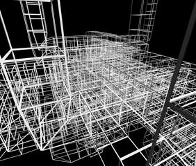 近未来の構造物のイメージ