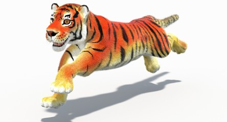 Cartoon Tiger (3d)