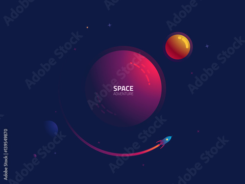 rocket flying through outer space stockfotos und. Black Bedroom Furniture Sets. Home Design Ideas