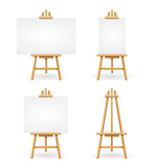 Wooden Easel or Painter Desk. Vector