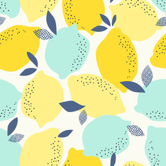 seamless pattern with citrus fruits