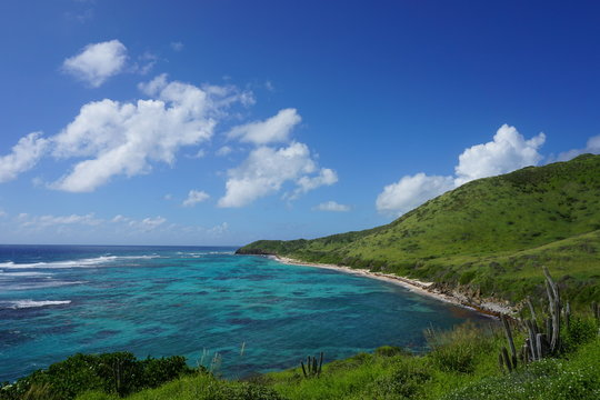 Picturesque landscape photo of Isaac's Bay on the east end of St. Croix, USVI