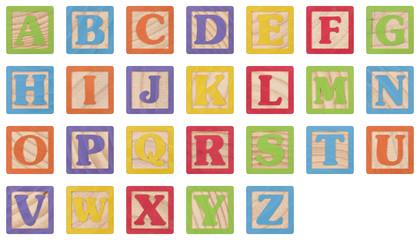 Alphabet Uppercase Letters Learning Blocks