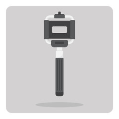 Vector of flat icon, Selfie stick for smartphone on isolated background