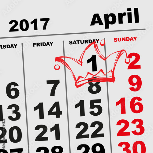 Calendar April Fools : Quot april fools day calendar reminder stock image and