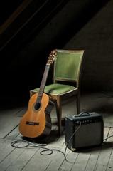 Obraz Blues guitar - fototapety do salonu