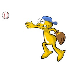 Funny baseball pitcher