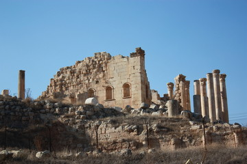 Jupiter Temple in Gerasa Jerash in Jordan, Middle East
