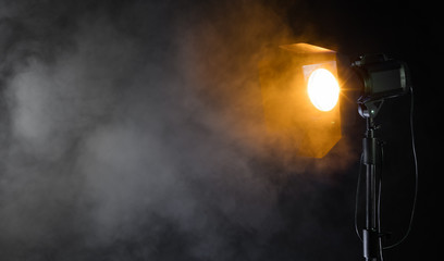 Studio spot light with smoke effect