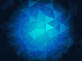 Blue Polygonal Mosaic Background