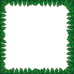 Frame for your text with floral background. Greeting card, invitation, banner.