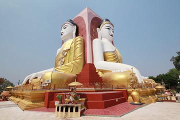 Kyaikpun Pagoda, A Pagoda of four giant buddha statues in Myanmar