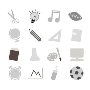 School education vector icon set
