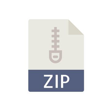 File Type Icons - Zip File (Flat)