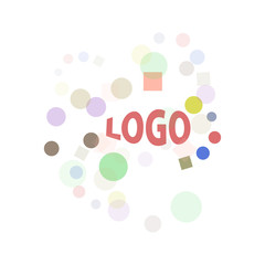 abstract logo sign isolated on white