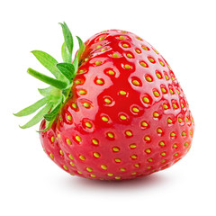 Strawberry. Fresh berry isolated on white background.
