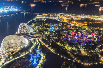 Singapore city skyline of Garden by the bay