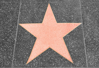 Star on the walk of fame Hollywood