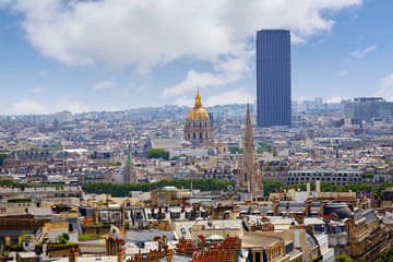 Paris skyline Invalides golden dome France