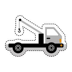 crane service truck icon vector illustration design