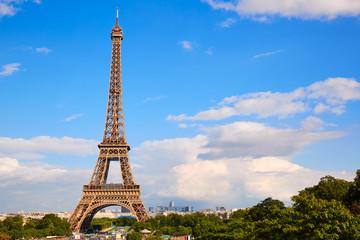 Eiffel Tower in Paris under blue sky France