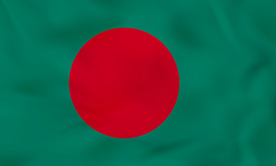 Bangladesh waving flag. Bangladesh national flag background texture.