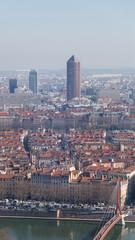City of Lyon at sunny day