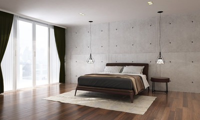 the interior design of bedroom