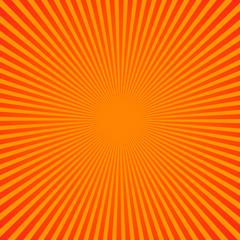 Bright yellow rays background. Comics, pop art style. Vector, eps 10.