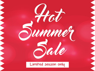 nice and creative vector template for flat summer sale abstract with beautiful design illustration.