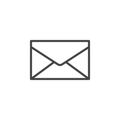 Envelope, mail, message line icon, outline vector sign, linear style pictogram isolated on white. Symbol, logo illustration. Editable stroke. Pixel perfect