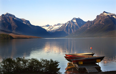 Lake McDonald Boats Glacier National Park