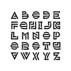 Bold broken latin font