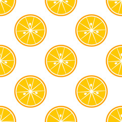 Orange slices citrus pattern