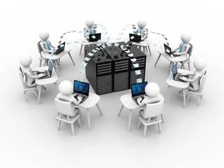 Global Business Network,3d rendering