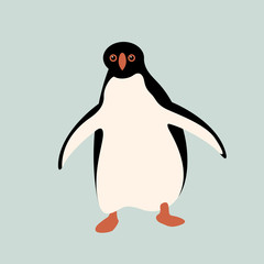 Penguin vector illustration style Flat