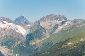Mountain landscape. Caucasus spring view