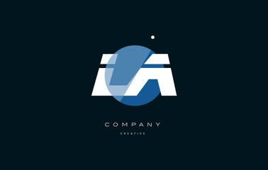 la l a  blue white circle big font alphabet company letter logo