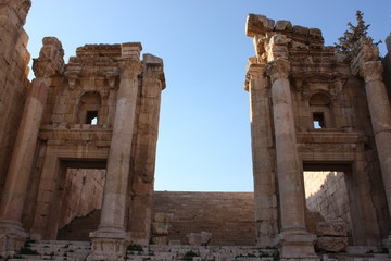 Nymphaeum in ancient city Jerash in Jordan, Middle East