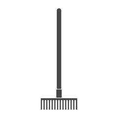Garden Rake Icon - Illustration