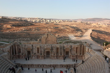 South Theater in Jerash in Jordan, Middle East