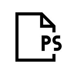 File format mini line, icon