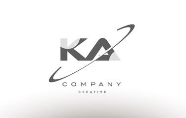 Obraz ka k a  swoosh grey alphabet letter logo - fototapety do salonu