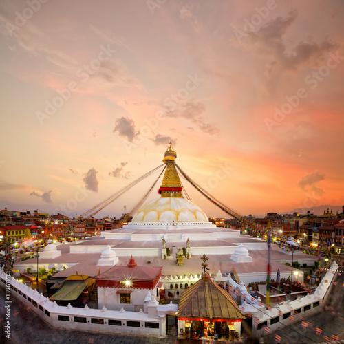 """Boudhanath Stupa At Sunset In Kathmandu, Nepal"" Stock Photo And Royalty-free Images On Fotolia"